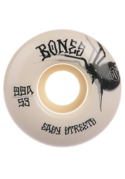 Bones Wheels Rollen STF Black Widow Easy Streets 99A V1 Standart white vorderansicht 0134682