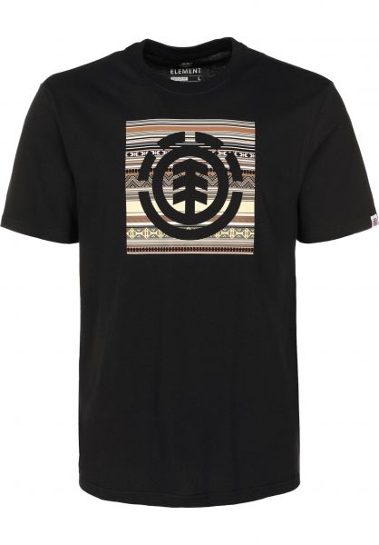 Element T-Shirts Indiana Logo Block flintblack vorderansicht 0399774