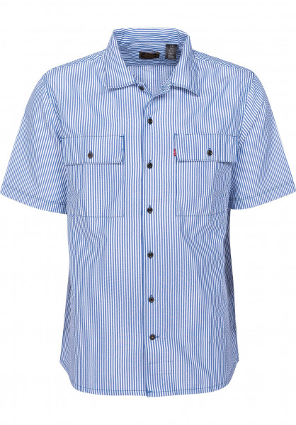 Levis Skate Hemden kurzarm SS Button Down blueseersucker Vorderansicht