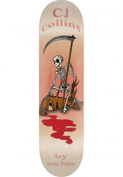 Toy-Machine Skateboard Decks Collins Reaper Skeleton natural vorderansicht 0265485