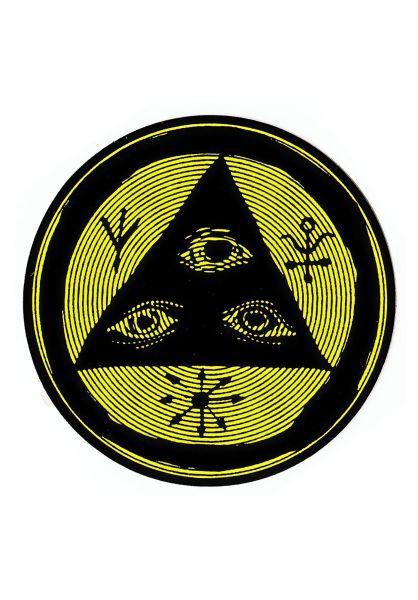 """Welcome Verschiedenes Vertigo 3"""" Sticker black-lime vorderansicht 0972218"""