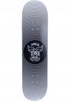 TITUS-Skateboard-Decks-Vertigo-T-Fiber-High-Concave-black-white-Vorderansicht