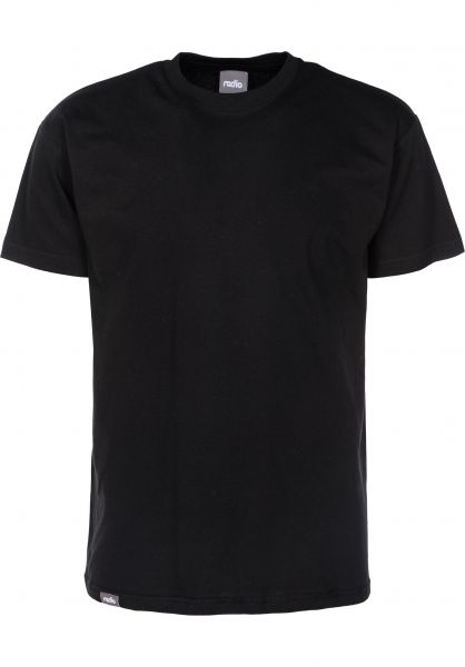 Radio T-Shirts Basic black Vorderansicht