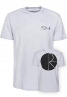 Polar Skate Co T-Shirts Fill Logo sportgrey Vorderansicht