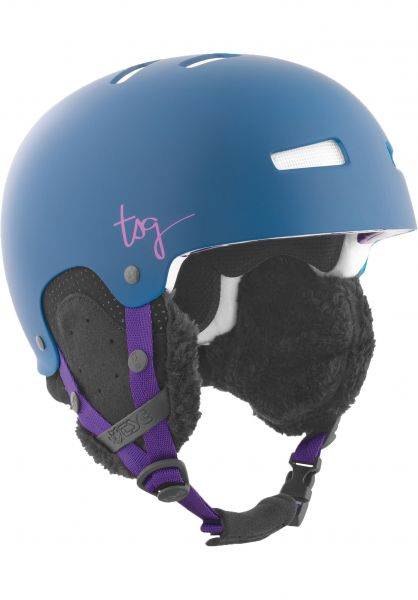 TSG Snowboardhelme Lotus Solid Color satin midnight blue Vorderansicht