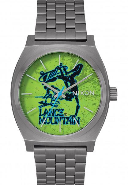 Nixon Uhren Time Teller x Bones Brigade gunmetal-mountain Vorderansicht