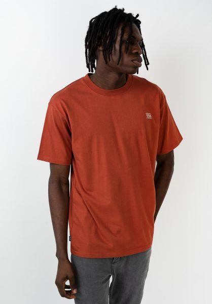 TITUS T-Shirts Chest Emblem burnt-ochre vorderansicht 0398357