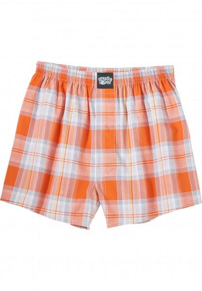 Lousy Livin Unterwäsche Check flame-orange Vorderansicht