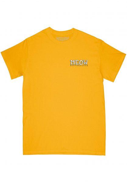 Meow Skateboards T-Shirts Bar Logo gold vorderansicht 0321053