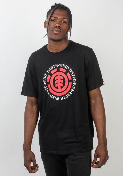 Element T-Shirts Seal flintblack vorderansicht 0372580