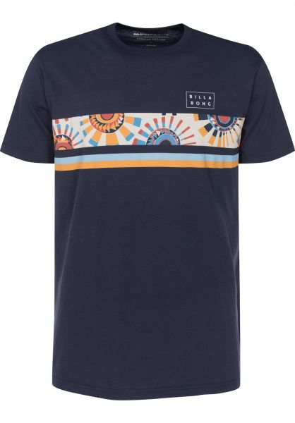 Billabong T-Shirts Team Stripe navy Vorderansicht