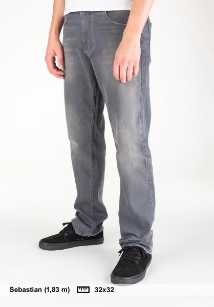 Reell Jeans Lowfly grey-washed Vorderansicht