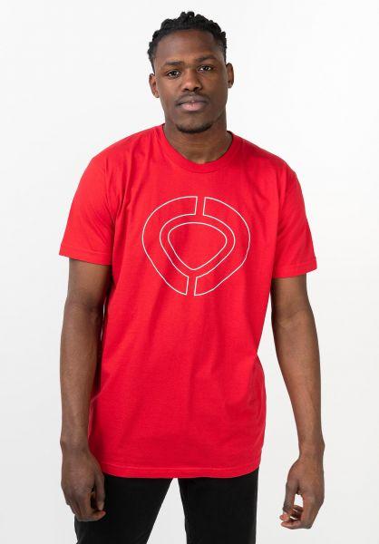 C1RCA T-Shirts Icon Track red vorderansicht 0321654
