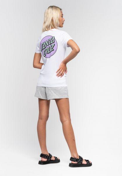 Santa-Cruz T-Shirts Process Dot white vorderansicht 0322923