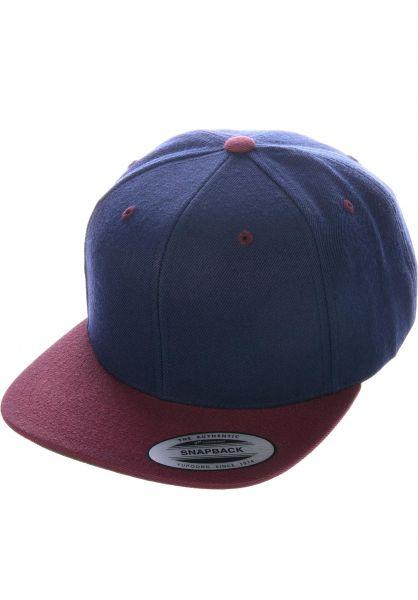 Flexfit Caps Snapback Cap navy-maroon vorderansicht 0566389