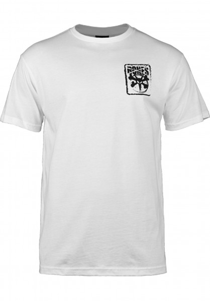 Bones Wheels T-Shirts Pocket-Logo white Vorderansicht