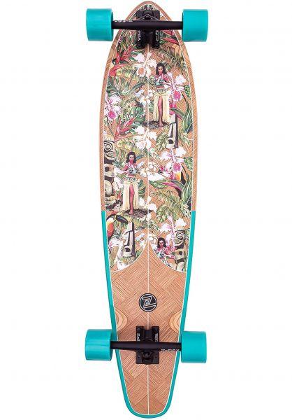 Z-Flex Longboards komplett Banana Train Roundtail 39´´ blue vorderansicht 0194362