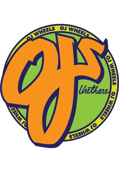 """OJ Wheels Verschiedenes Standard 1.5"""" green-orange vorderansicht 0971515"""