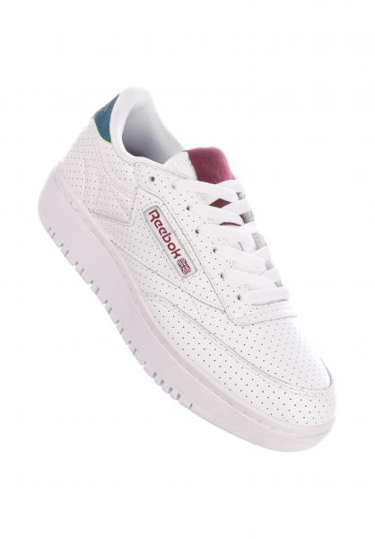 Club C Double Reebok All Shoes in white heritageteal merlot