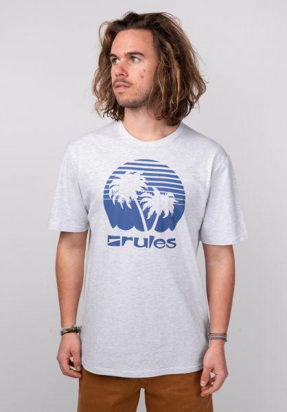 Rules T-Shirts Palms lightheathergrey-blue vorderansicht 0395411