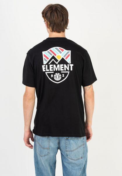 Element T-Shirts Beaming flintblack vorderansicht 0322630