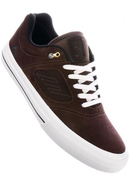 Emerica Alle Schuhe Reynolds 3 G6 Vulc brown-white Vorderansicht