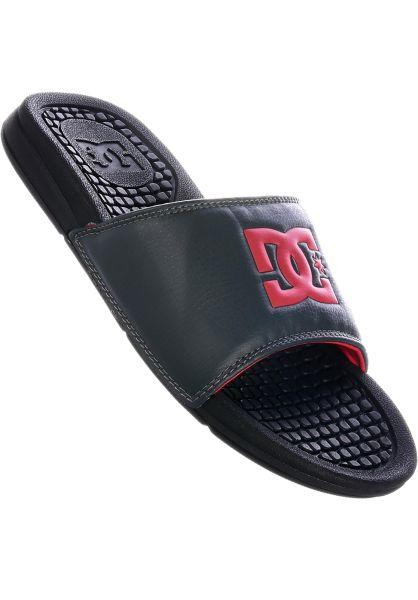 DC Shoes Sandalen Bolsa black-grey-red vorderansicht 0620236