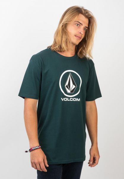 Volcom T-Shirts Crisp Stone evergreen vorderansicht 0398046