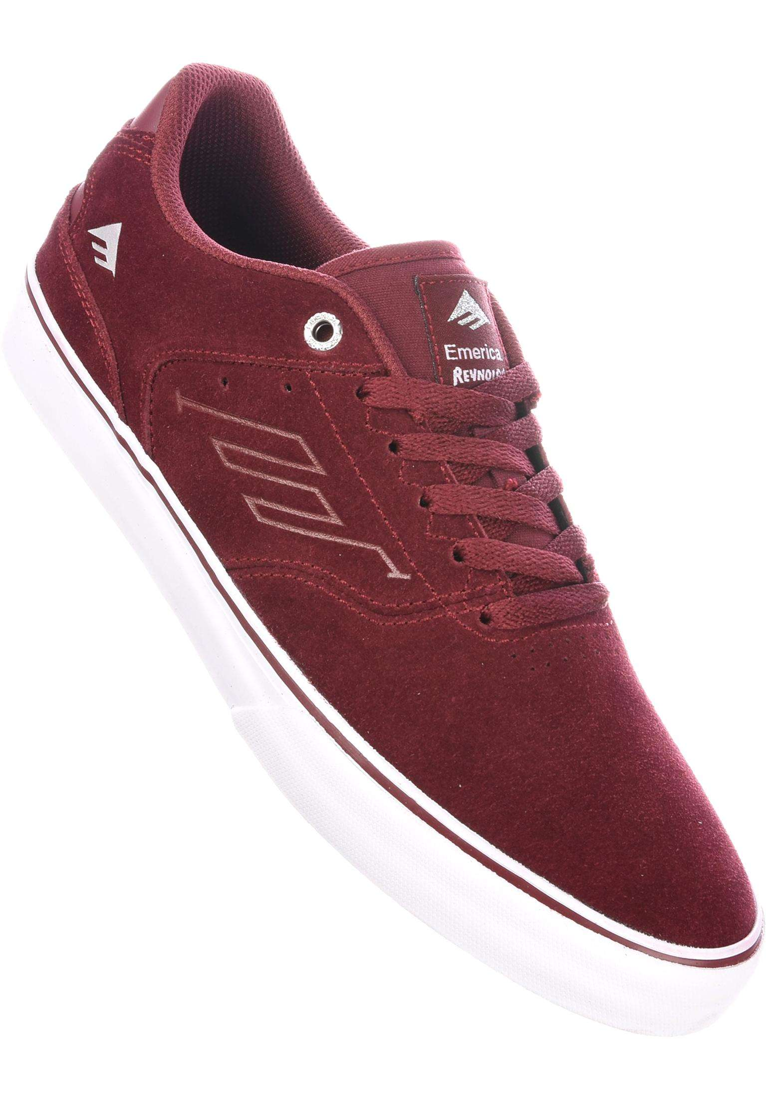061137146cd Reynolds Low Vulc Emerica All Shoes in red-white-gum for Men