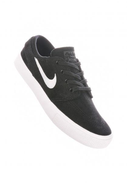 Nike SB Alle Schuhe Zoom Stefan Janoski Wmn black-white vorderansicht 0612588