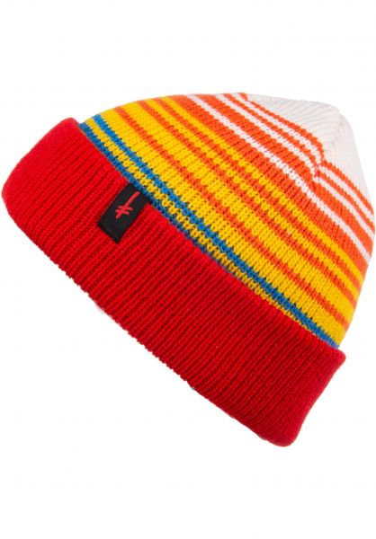 7be927f63f1 Deathwish Mützen Gang Logo Cuff rainbow vorderansicht 0572415
