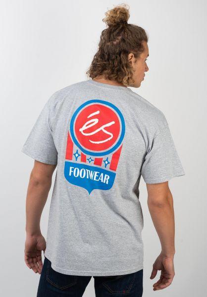 ES T-Shirts Court Logo greyheather vorderansicht 0320387