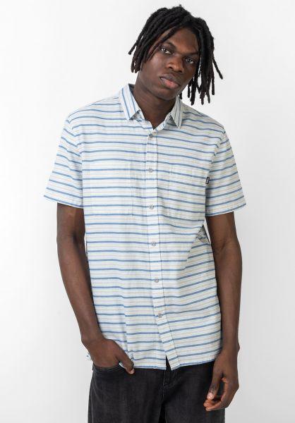 TITUS Hemden kurzarm Asher blue-grey-striped vorderansicht 0400902