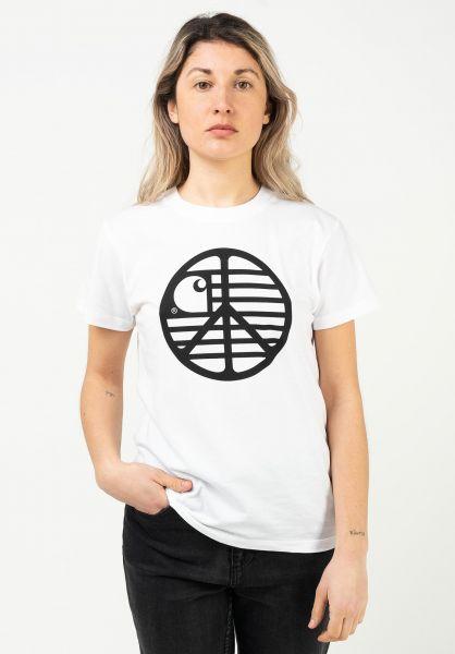 Carhartt WIP T-Shirts W' Peace State white-black vorderansicht 0322833