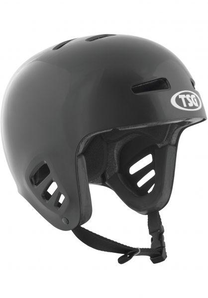 TSG Helme Dawn Flex Solid Color black Vorderansicht