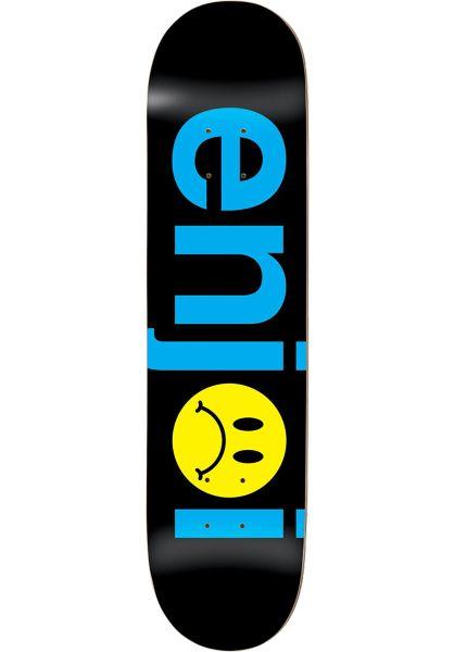 Enjoi Skateboard Decks Frowny Face No Brainer black vorderansicht 0260206