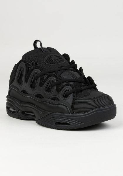 Osiris Alle Schuhe D3 2001 black-black-black vorderansicht 0604118