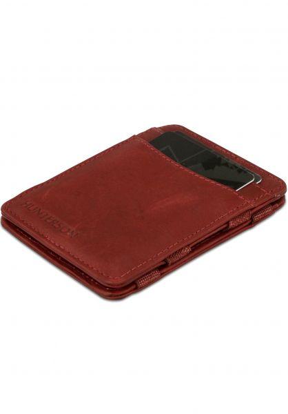 Hunterson Portemonnaie Magic Wallet RFID burgundy vorderansicht 0781046