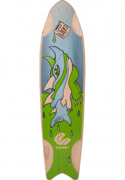 Comet Longboard Decks Grease Shark green Vorderansicht