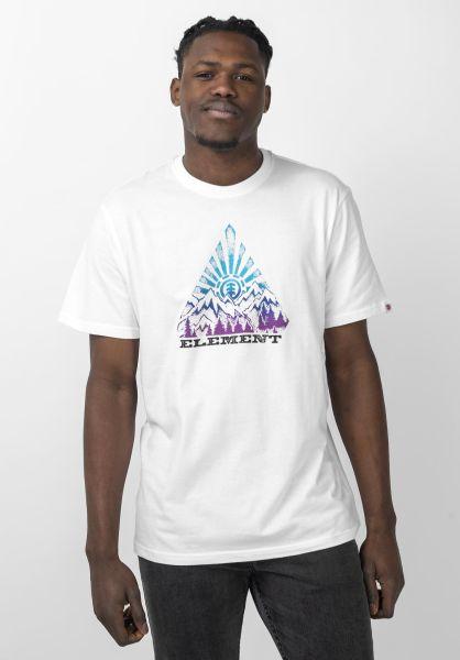 Element T-Shirts Longley opticwhite vorderansicht 0321627