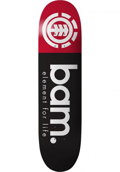 Element Skateboard Decks Bam Section black-red Vorderansicht