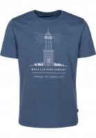 Makia-T-Shirts-Lighthouse-blue-Vorderansicht