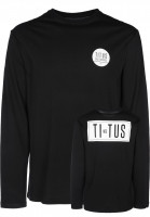 TITUS Longsleeves MFG Backprint black Vorderansicht