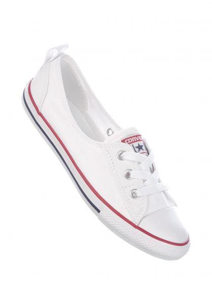 Converse Alle Schuhe Ballet Lace white Vorderansicht
