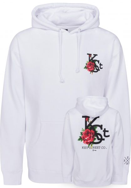 Key Street Hoodies Flora white Vorderansicht