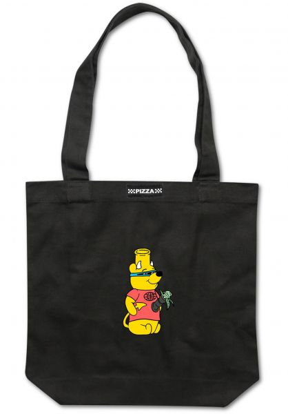 Pizza Skateboards Taschen Pooh Bong Tote Bag black vorderansicht 0891579