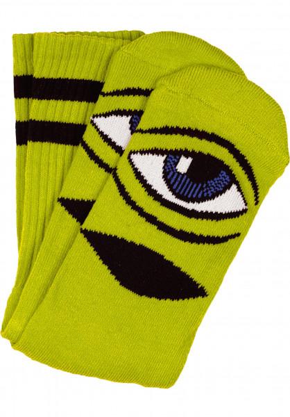 Toy-Machine Socken Sect-Eye-III green Vorderansicht