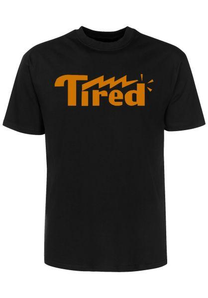 Tired T-Shirts Lightning Logo black vorderansicht 0321133