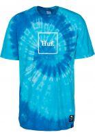 HUF T-Shirts Box Logo Tie-Dye twilightblue Vorderansicht