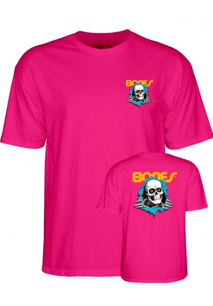 Powell-Peralta T-Shirts Ripper hot-pink Vorderansicht